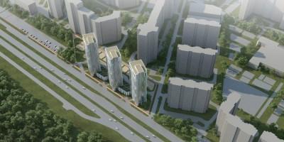 Жилые многоэтажки на Парашютной