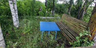 Пулковское шоссе, мемориал упавшему самолету Ил-18, столик