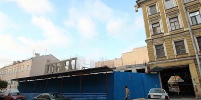 Стройка в Климовом переулке