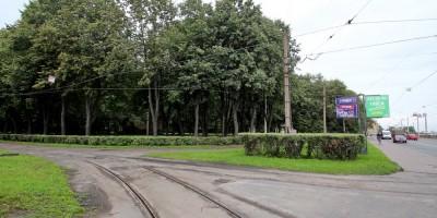 Трамвайное кольцо в парке Бабушкина