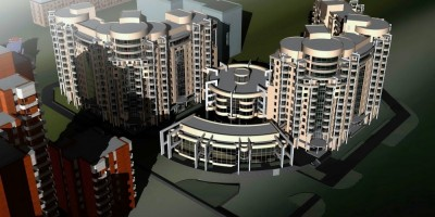 Жилой комплекс на Двинской улице, 8, вид сверху