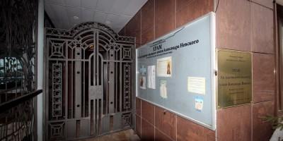 Рыбацкое, церковь Александра Невского, вход