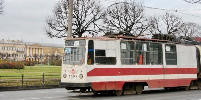 Трамвай на набережной Лебяжьей канавки