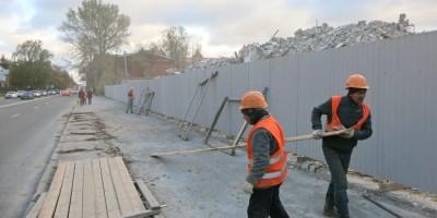 Снос здания на Большом Сампсониевском проспекте