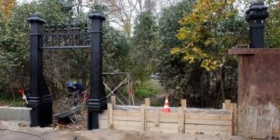 Кронштадт, ограда Летнего сада, реставрация калитки