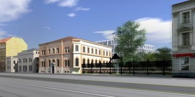 Проект бизнес-центра San Gally Park, вид с Лиговского проспекта