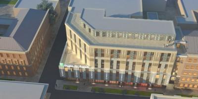 Проект гостиницы на улице Александра Невского, вид сверху