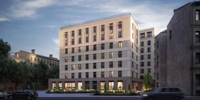 Проект жилого дома на 10-й Советской улице, 8, фасад, выходящий к улице Моисеенко