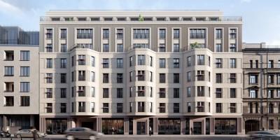 Проект жилого дома на 10-й Советской улице, 8, главный фасад