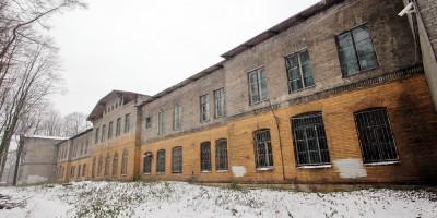 Институтский переулок, 5, главный корпус приюта-лечебницы Евреиновой, задний фасад