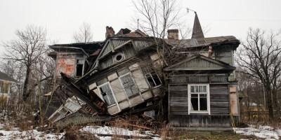 Лахта, Лахтинский проспект, 115, дача, обрушение