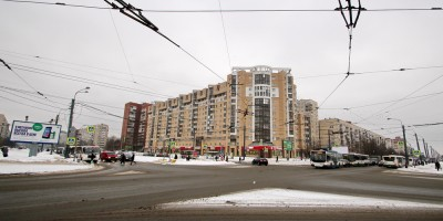 Перекресток проспекта Наставников и Хасанской улицы