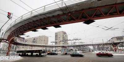 Проспект Славы, Будапештская улица, переход