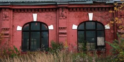 Сарай для императорских поездов Варшавского вокзала, окна