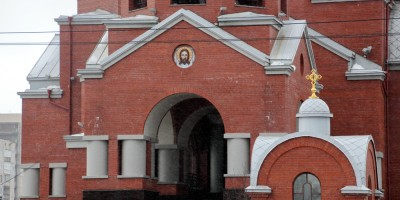 Сретенская церковь на Гражданском проспекте, 101, вход