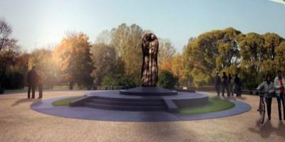 Единый крест у площади Победы