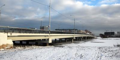 Колпино, новый мост через Ижорский пруд