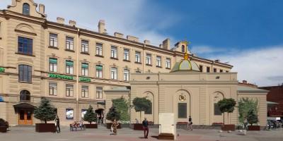 Проект реконструкции часовни на Сенной площадь