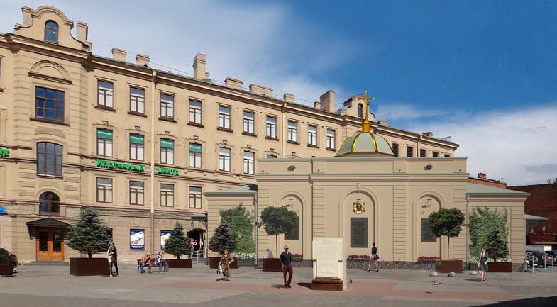 Реконструкцию часовни наСенной площади завершат кначалу 2018-ого года