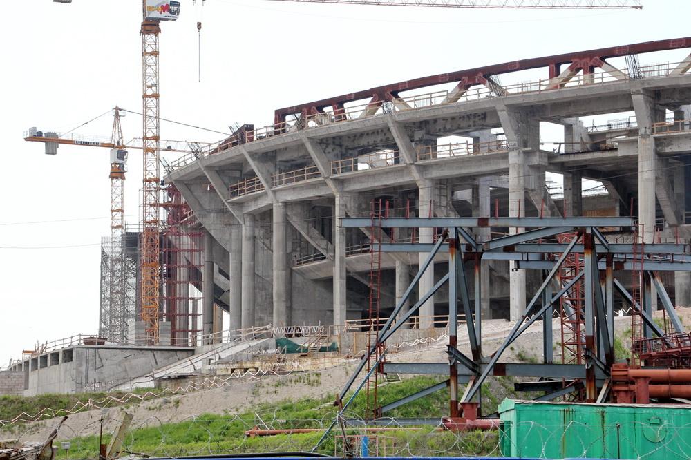 Стадион на Крестовском, стройка