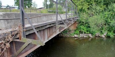 Старо-Пановский мост сбоку