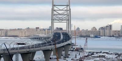 ЗСД, мост над фарфатером Большой Невы