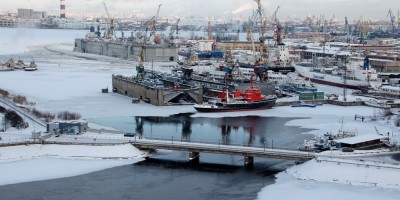 ЗСД, вид на мост к Белому острову