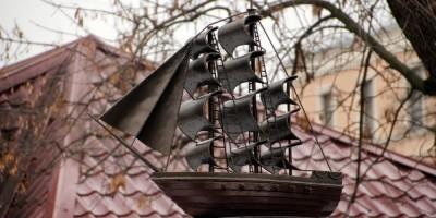 Среднеохтинский проспект, фонтан, кораблик