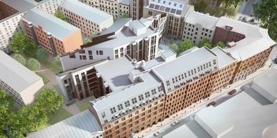Жилой комплекс на Зелениной улице, вид сверху