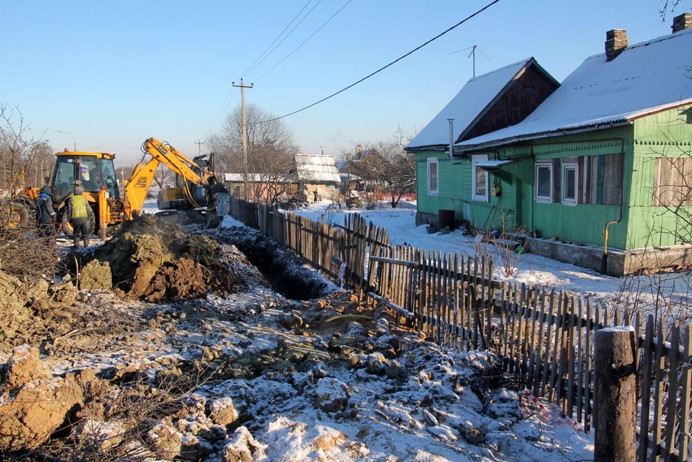 Красное Село, расширение проспекта Ленина, экскаватор