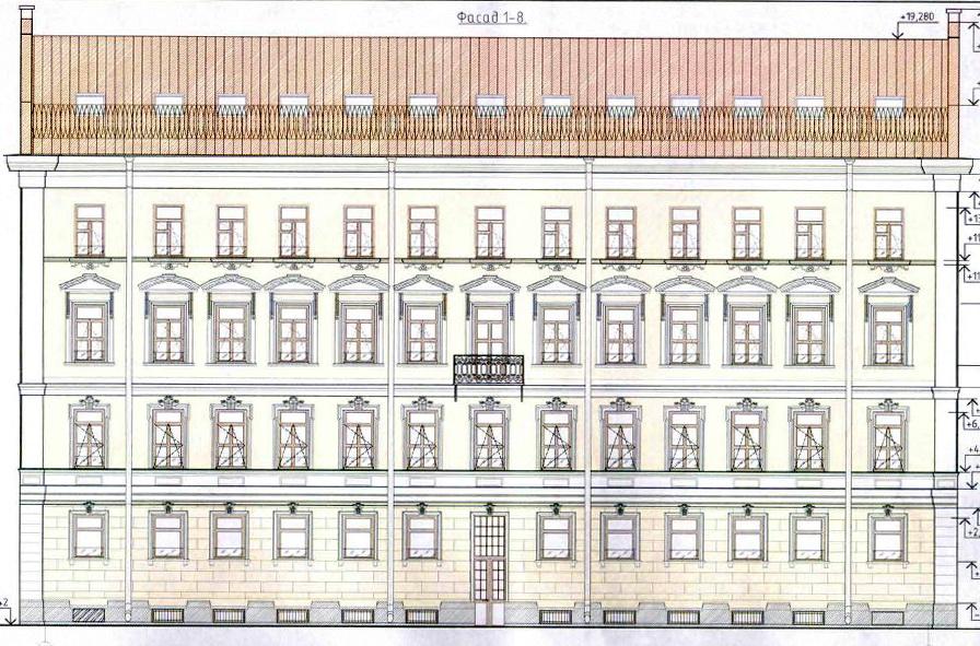 Лермонтовский проспект, 14, проект фасада