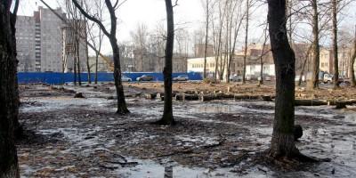 Улица Васи Алексеева, сквер, вырубка