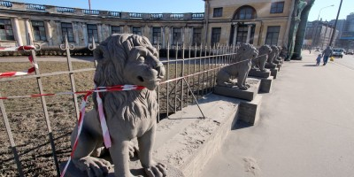 Дача Кушелевых-Безбородко, львы