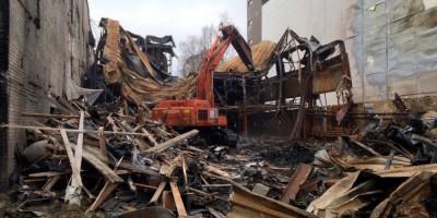 Демонтаж скалодрома на Литовской