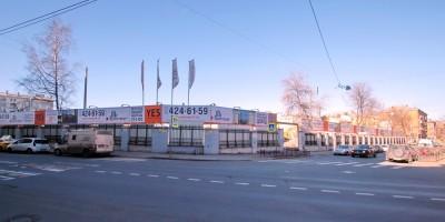 Фабрика Крупской после сноса