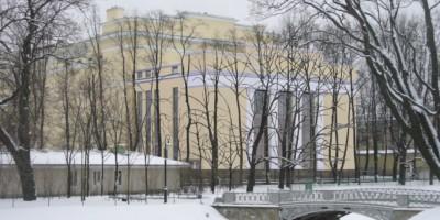Новое здание в Михайловском саду, проект, первый вариант