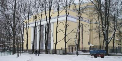 Новое здание в Михайловском саду, первый вариант
