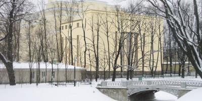 Новое здание в Михайловском саду, проект, второй вариант