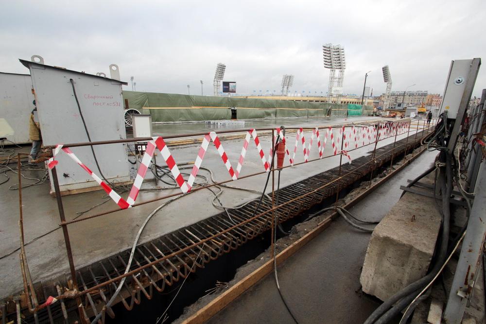 Тучков мост, реконструкция, подушка