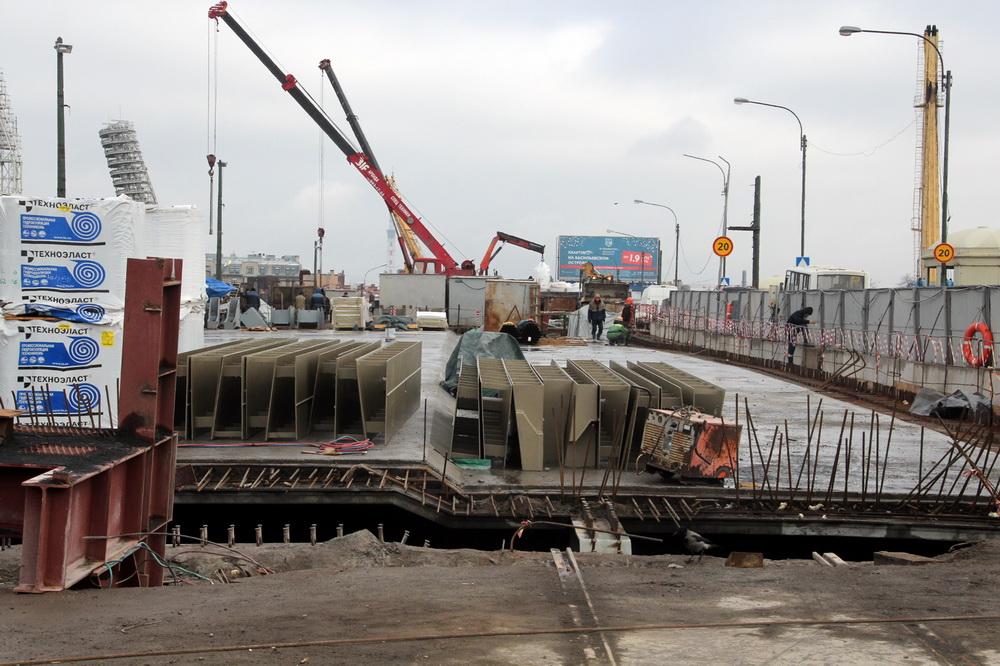 Тучков мост, реконструкция, полотно