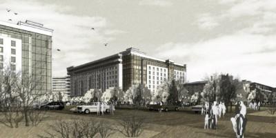 Жилой комплекс на Свердловской набережной, вид с набережной