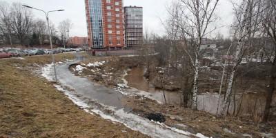 Берег реки Лубьи, обрушение
