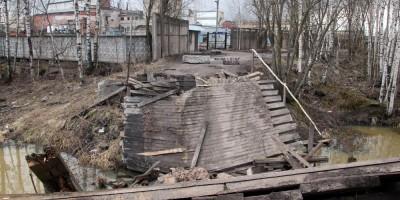 Безымянный ручей, обрушение моста, Капсюльное шоссе