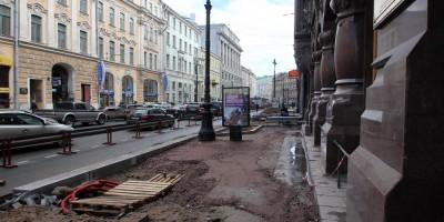 Большая Морская улица, ремонт тротуаров