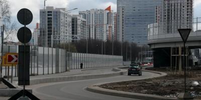 Дунайский проспект, путепровод, съезды