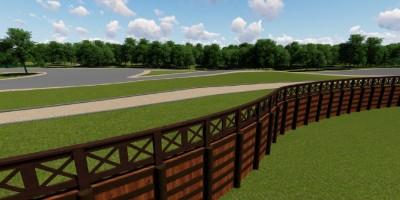 Муринский парк, проект, вид на парковую дорожку