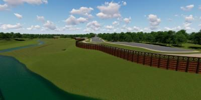 Муринский парк, проект, вид на пойму