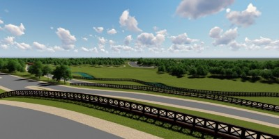 Муринский парк, проект, вид с водораздела