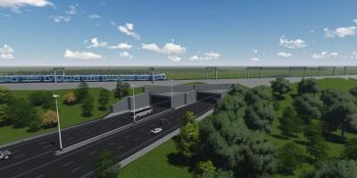Проект тоннеля через Варшавскую железную дорогу