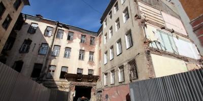 Снос дома Малоземомой на Лиговском проспекте, двор